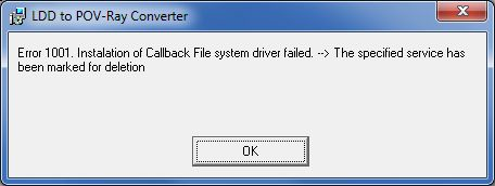 Installation error - driver marked for deletion