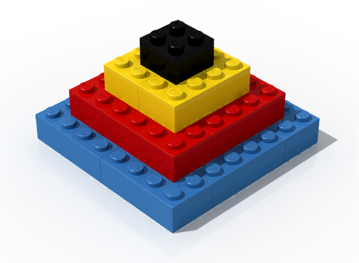 Basic LDD geometry with the visible bevels and the LEGO® logo