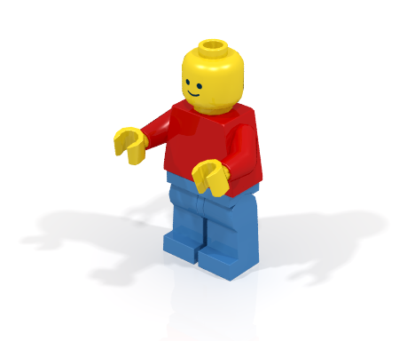 Minifigure with realistic shadows
